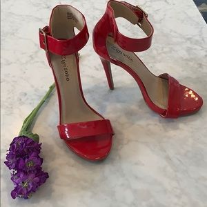Shoes - Red Strappy Heels 👠